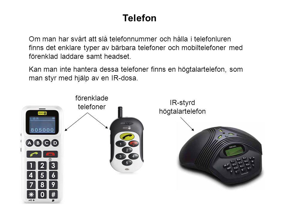 IR-styrd högtalartelefon