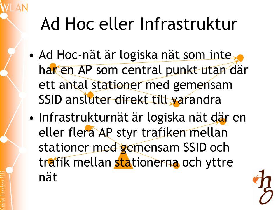 Ad Hoc eller Infrastruktur