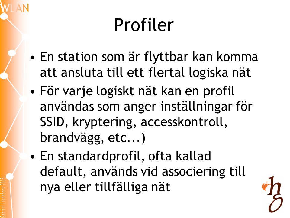 Profiler En station som är flyttbar kan komma att ansluta till ett flertal logiska nät.