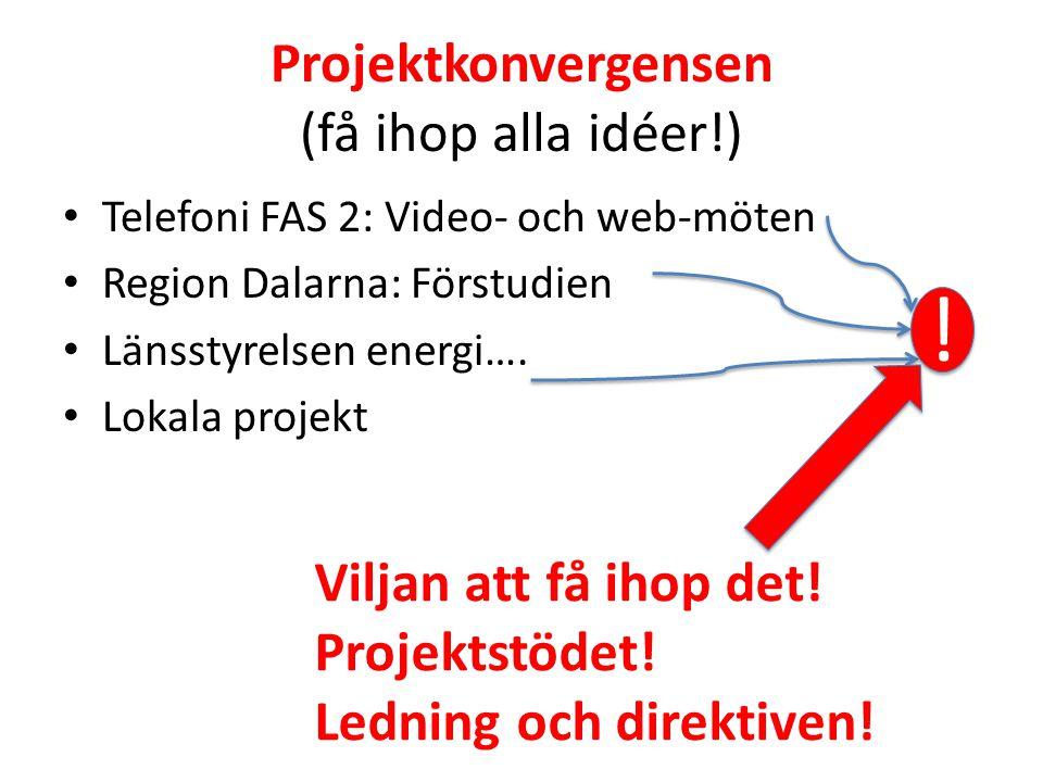 Projektkonvergensen (få ihop alla idéer!)