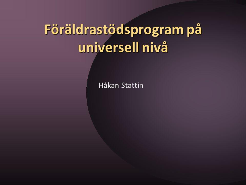 Föräldrastödsprogram på universell nivå
