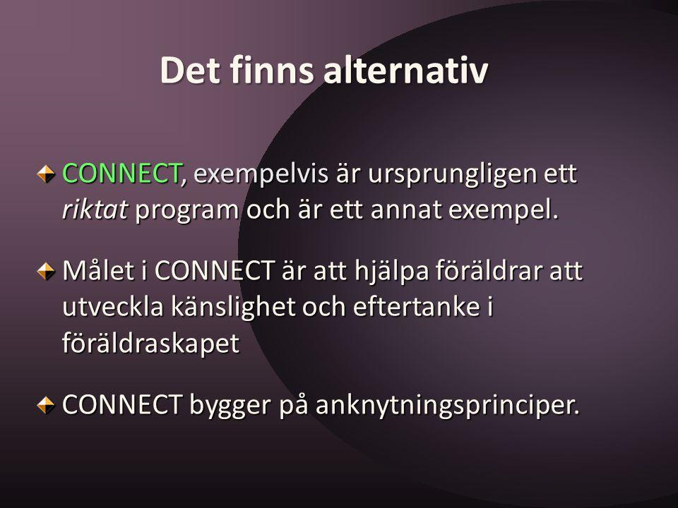 Det finns alternativ CONNECT, exempelvis är ursprungligen ett riktat program och är ett annat exempel.