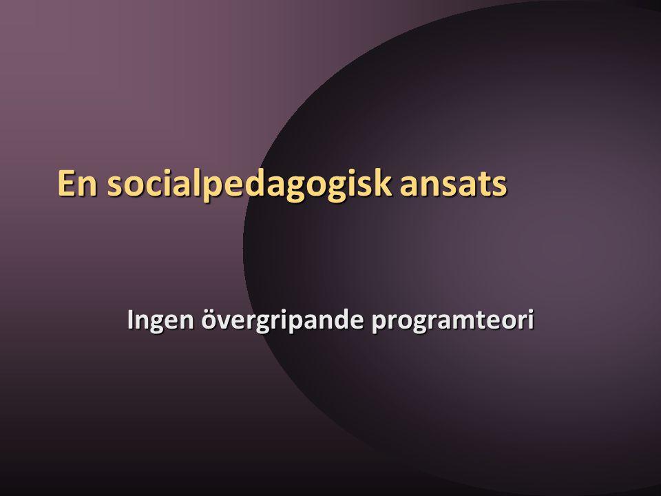 En socialpedagogisk ansats