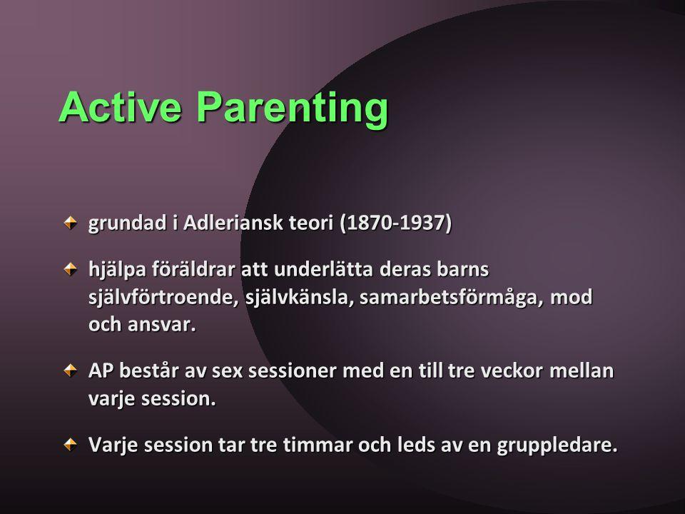 Active Parenting grundad i Adleriansk teori (1870-1937)