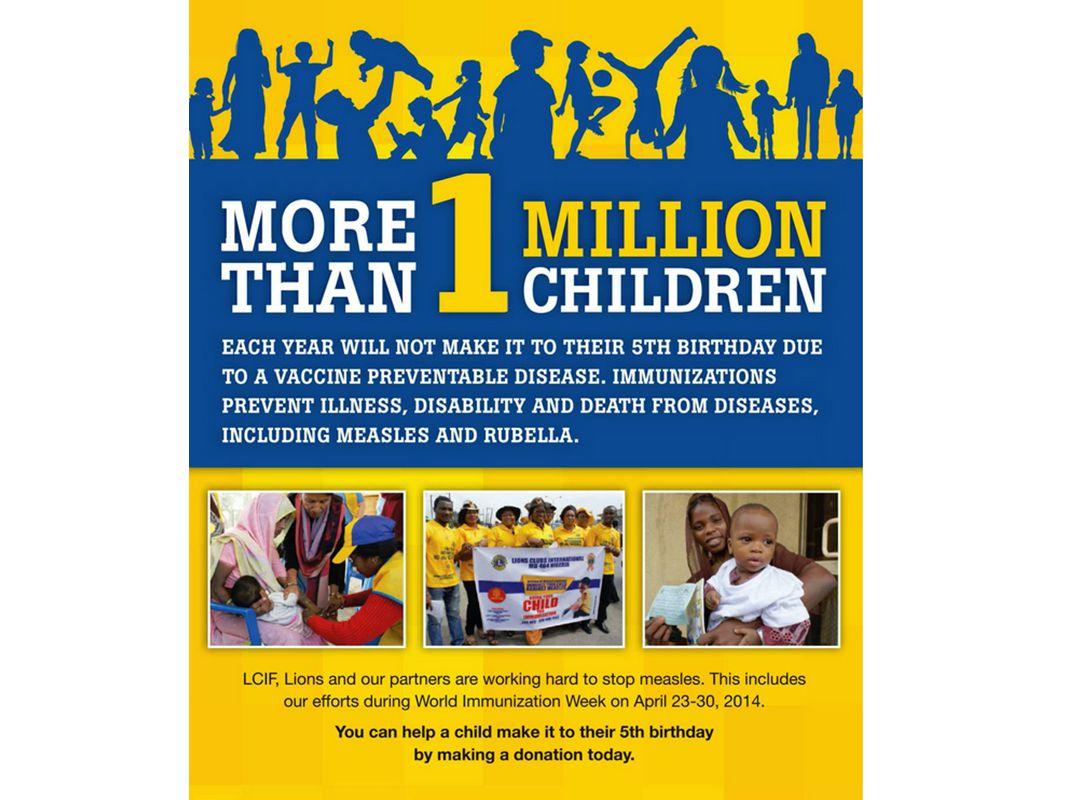 Mer än en miljon barn kommer inte att få uppleva sin femte födelsedag i år på grund av en sjukdom som kan förebyggas med vaccinering.