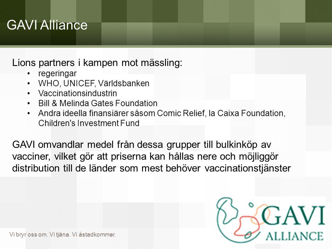GAVI Alliance Lions partners i kampen mot mässling: