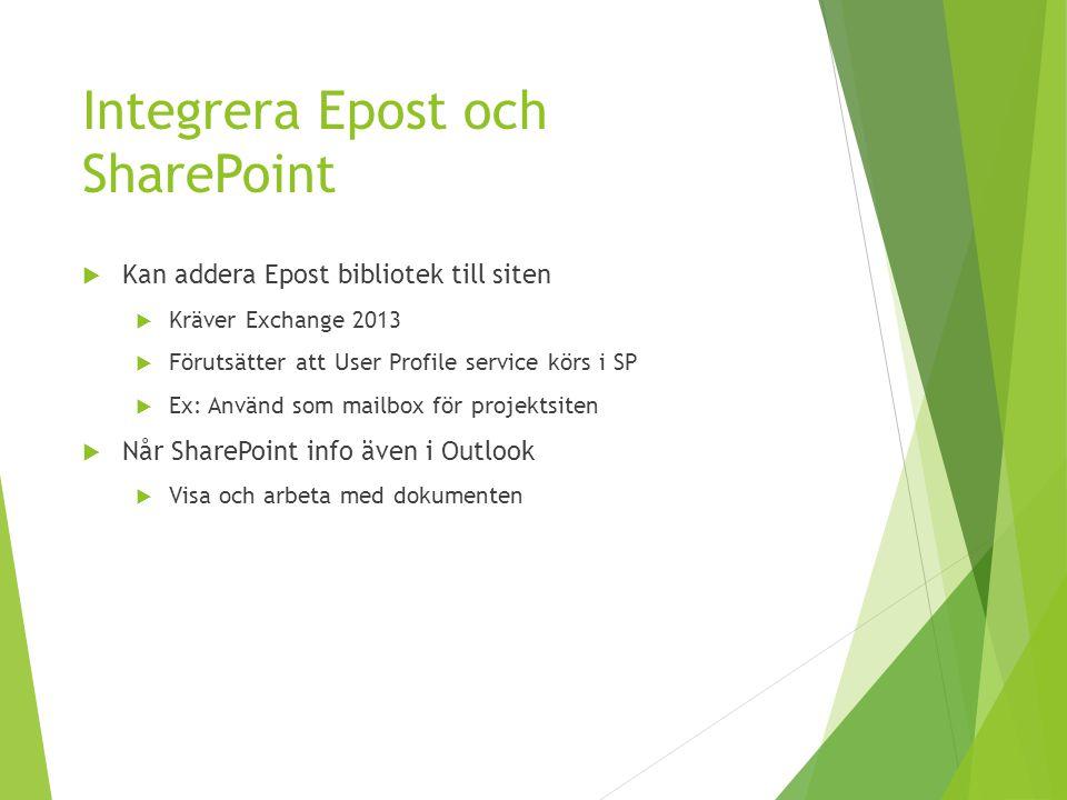 Integrera Epost och SharePoint