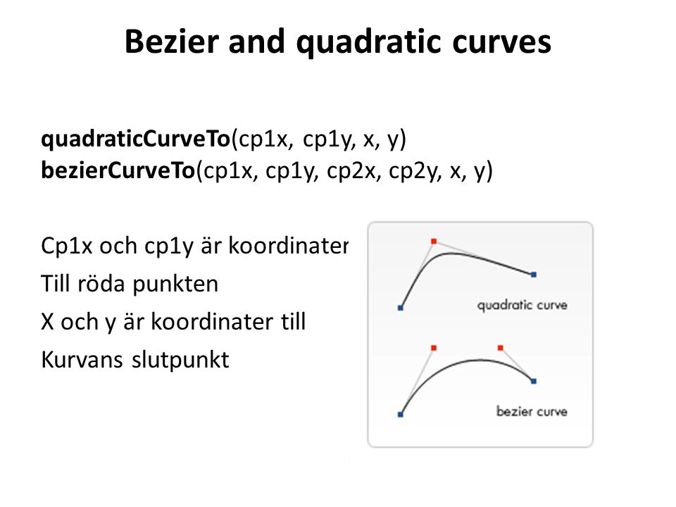 Bezier and quadratic curves