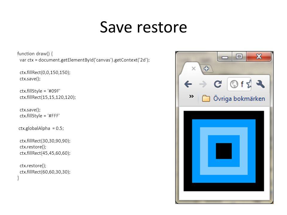 Save restore