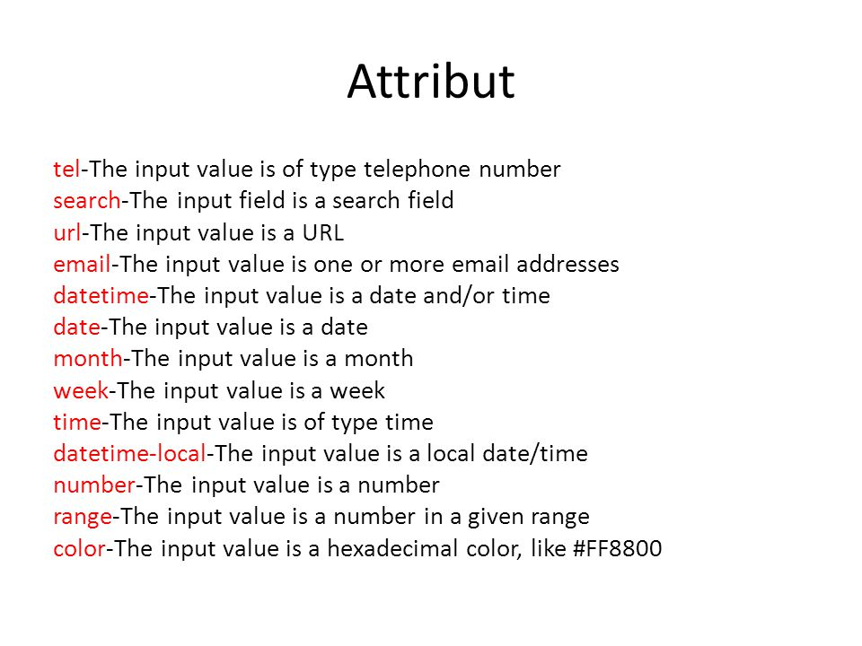 Attribut tel-The input value is of type telephone number