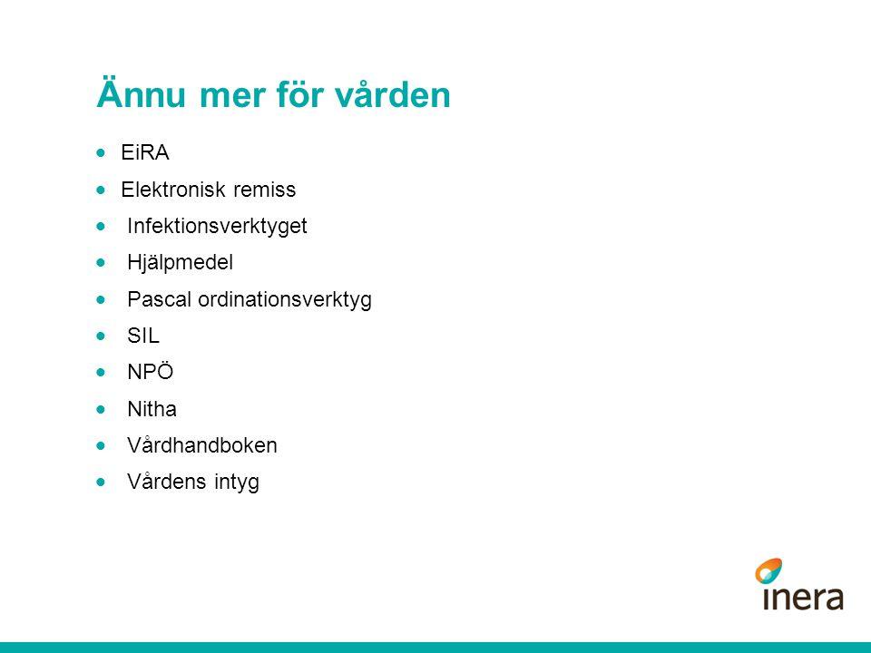 Ännu mer för vården EiRA Elektronisk remiss Infektionsverktyget