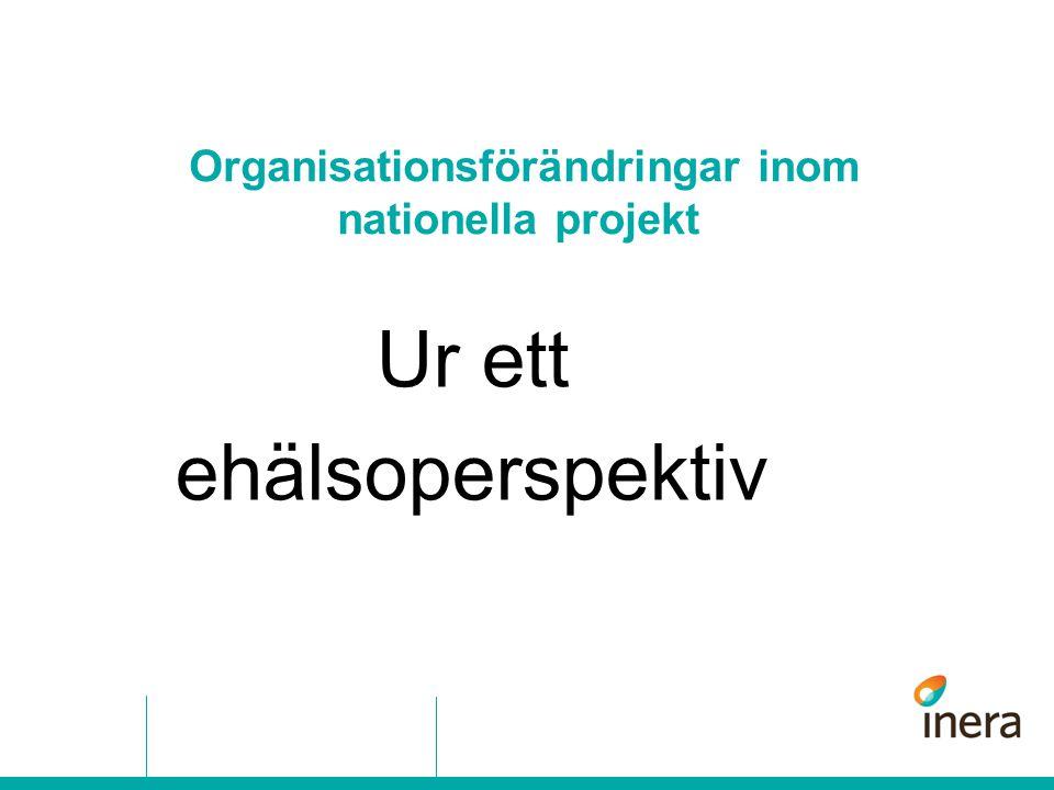 Organisationsförändringar inom nationella projekt