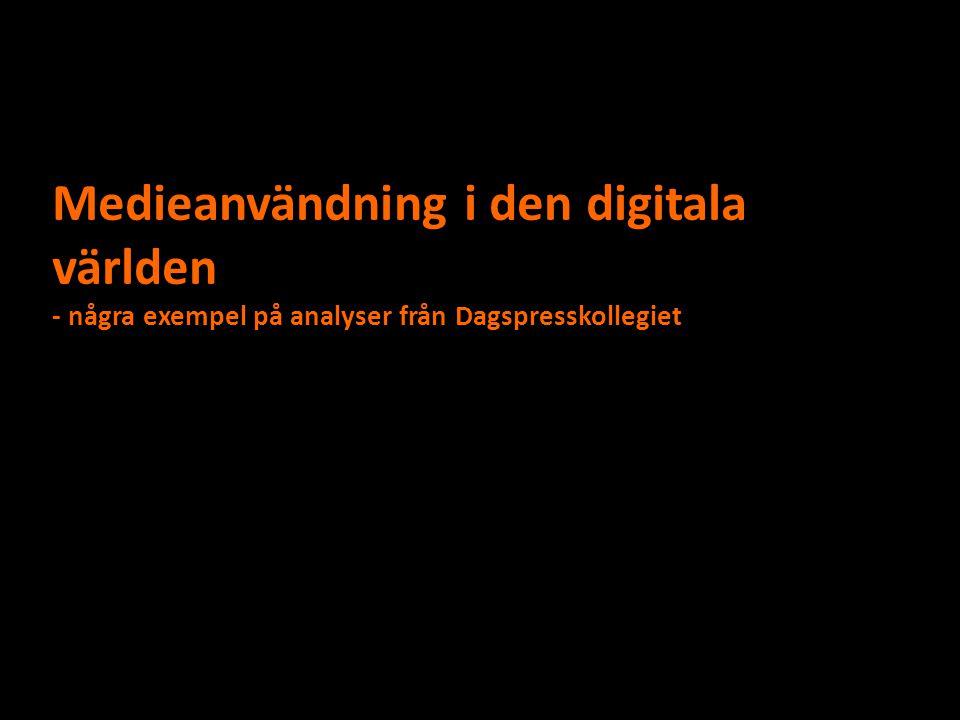 Medieanvändning i den digitala världen - några exempel på analyser från Dagspresskollegiet