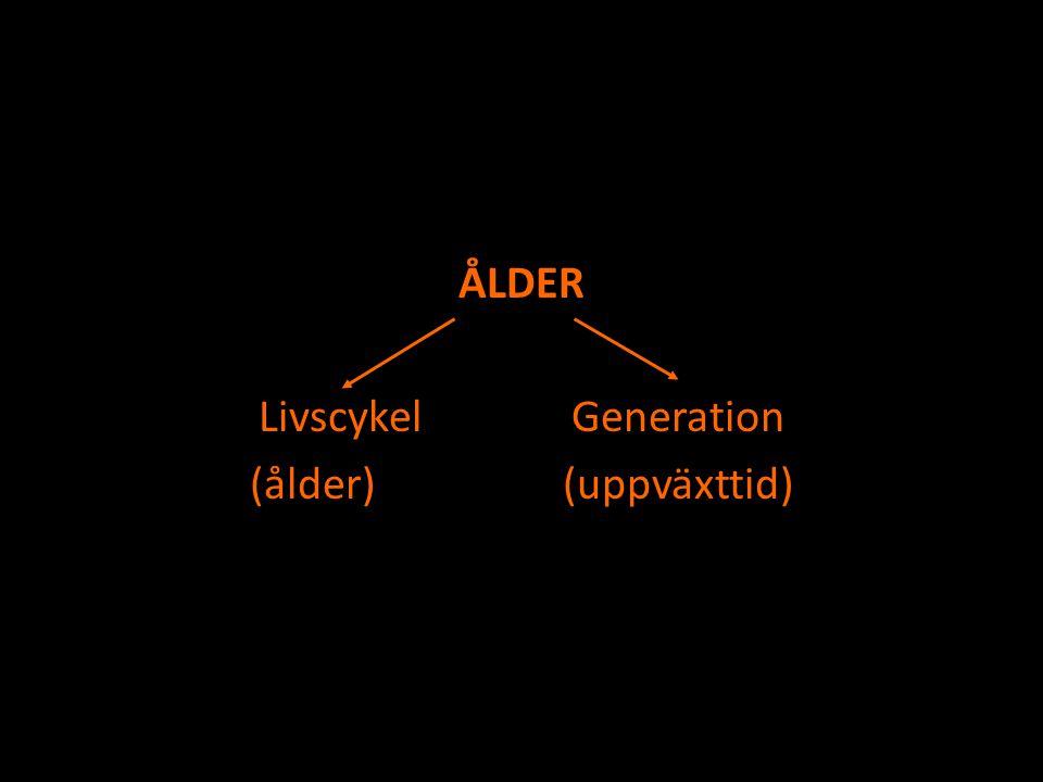 ÅLDER Livscykel Generation (ålder) (uppväxttid)
