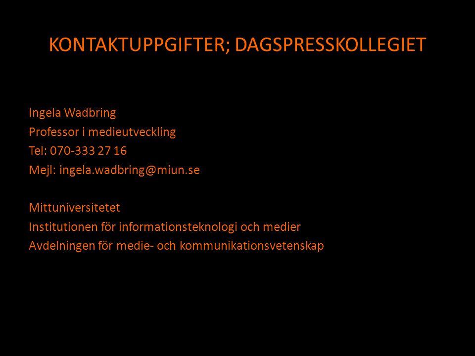 KONTAKTUPPGIFTER; DAGSPRESSKOLLEGIET