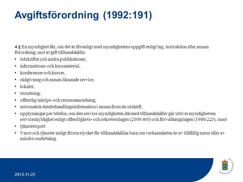 Avgiftsförordning (1992:191)