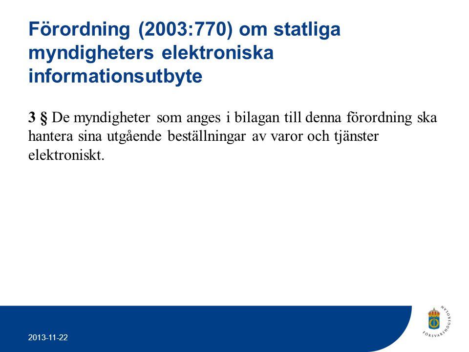 Förordning (2003:770) om statliga myndigheters elektroniska informationsutbyte