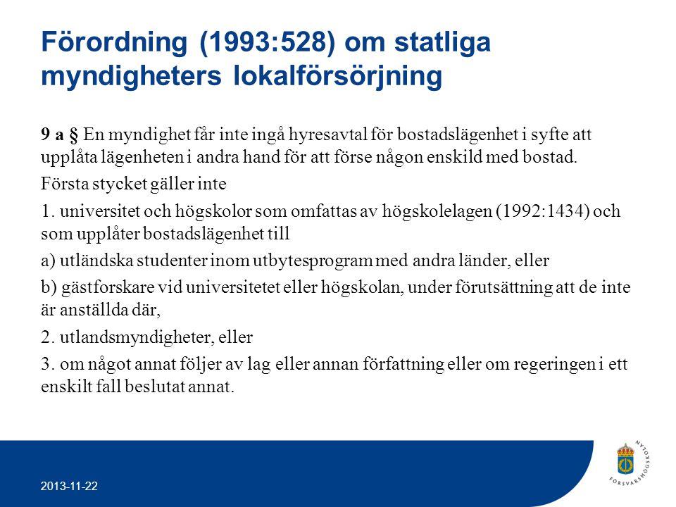 Förordning (1993:528) om statliga myndigheters lokalförsörjning