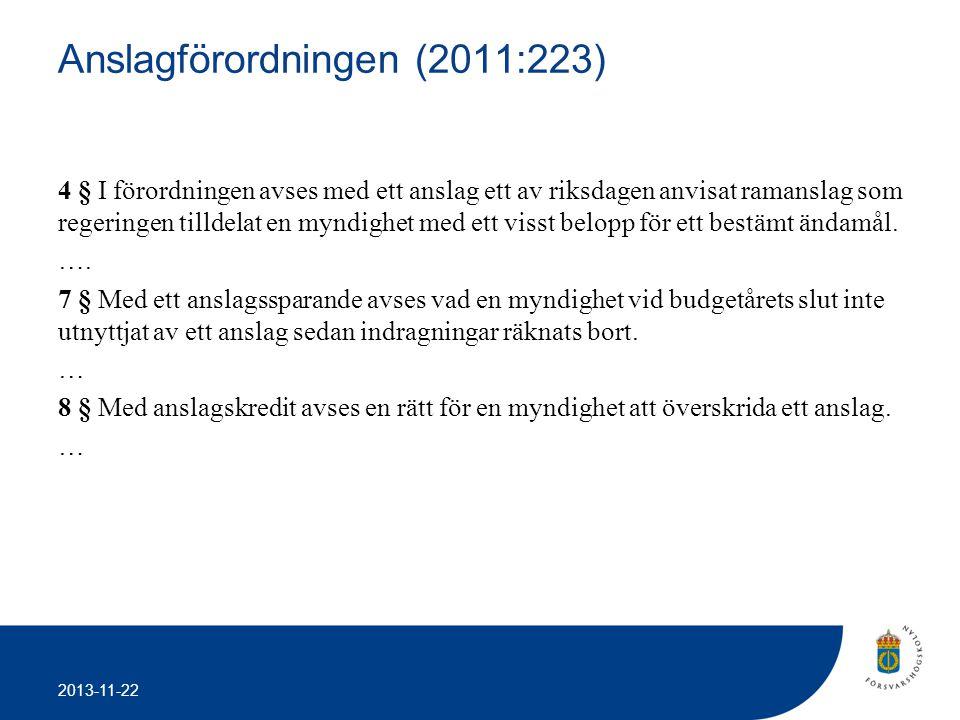 Anslagförordningen (2011:223)