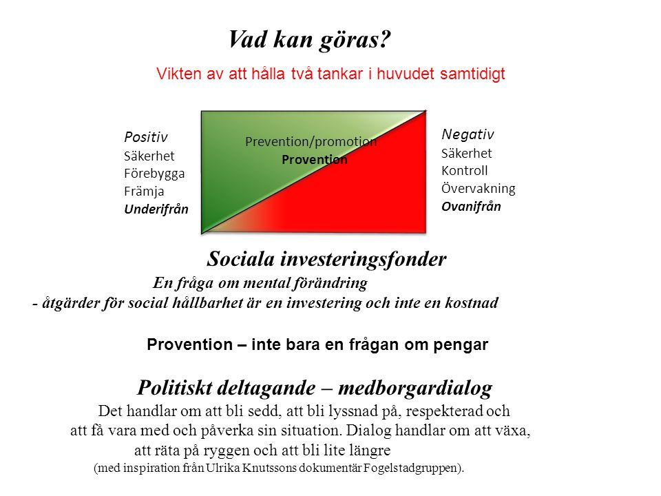 Vad kan göras Politiskt deltagande – medborgardialog