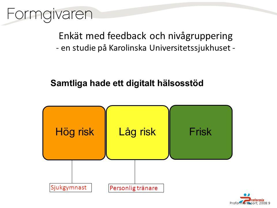 Enkät med feedback och nivågruppering