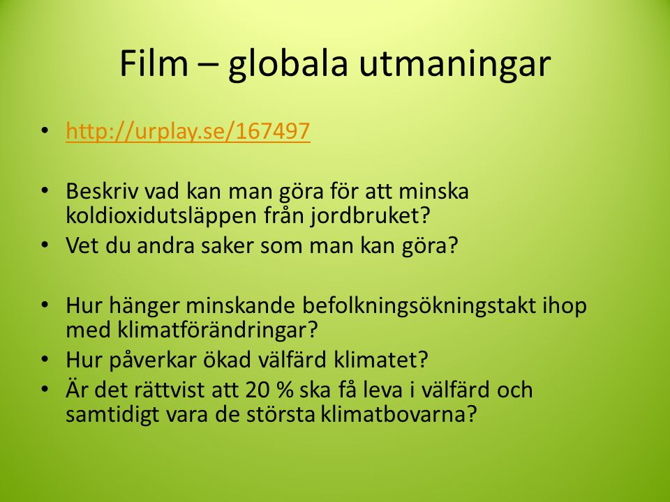 Film – globala utmaningar