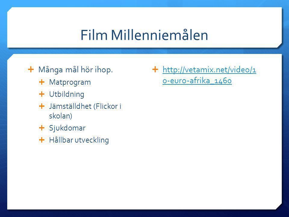 Film Millenniemålen Många mål hör ihop.