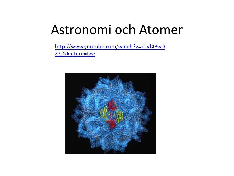 Astronomi och Atomer http://www.youtube.com/watch v=xTVl4PwDZ7s&feature=fvsr