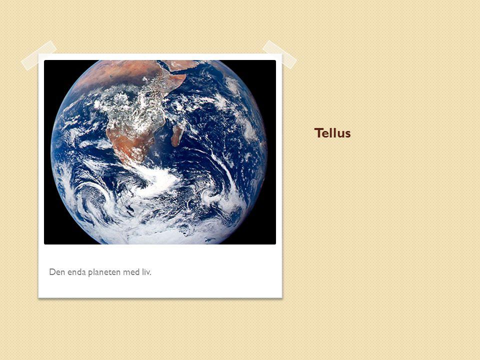 Tellus Den enda planeten med liv.