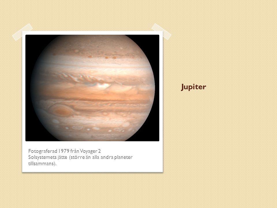 Jupiter Fotograferad 1979 från Voyager 2