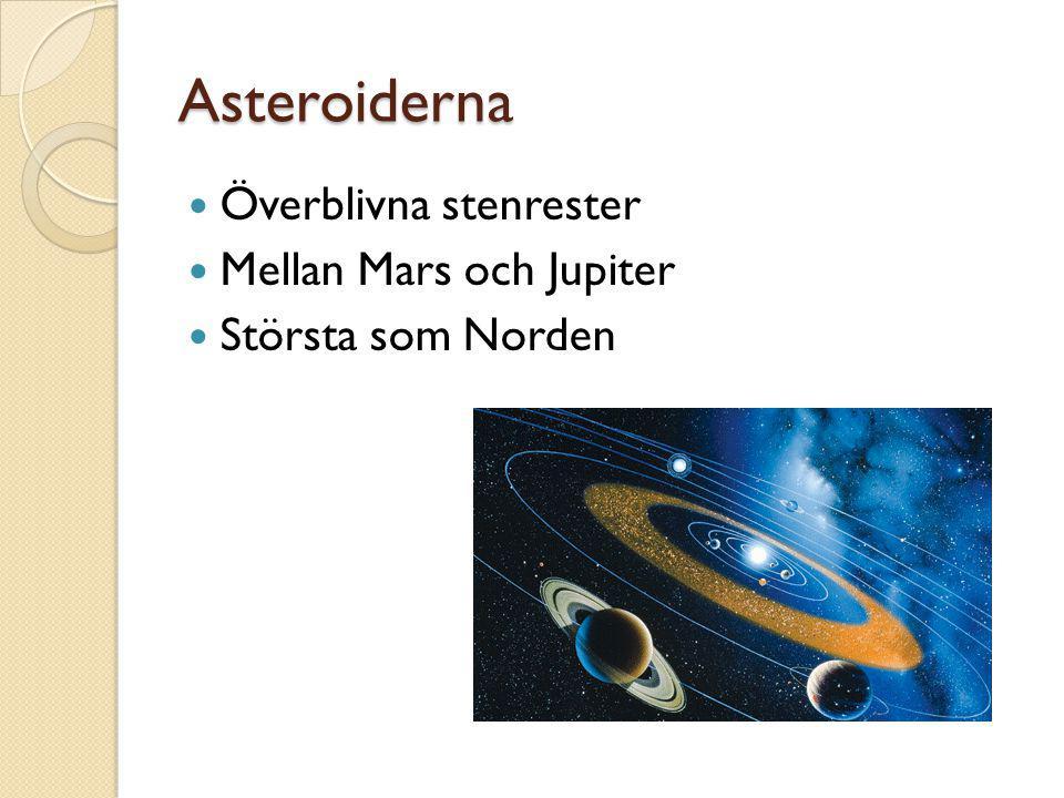 Asteroiderna Överblivna stenrester Mellan Mars och Jupiter