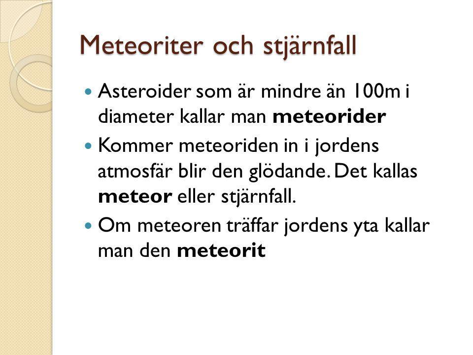 Meteoriter och stjärnfall