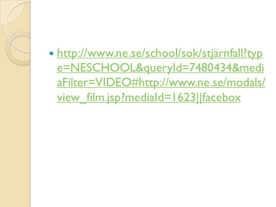 http://www. ne. se/school/sok/stjärnfall
