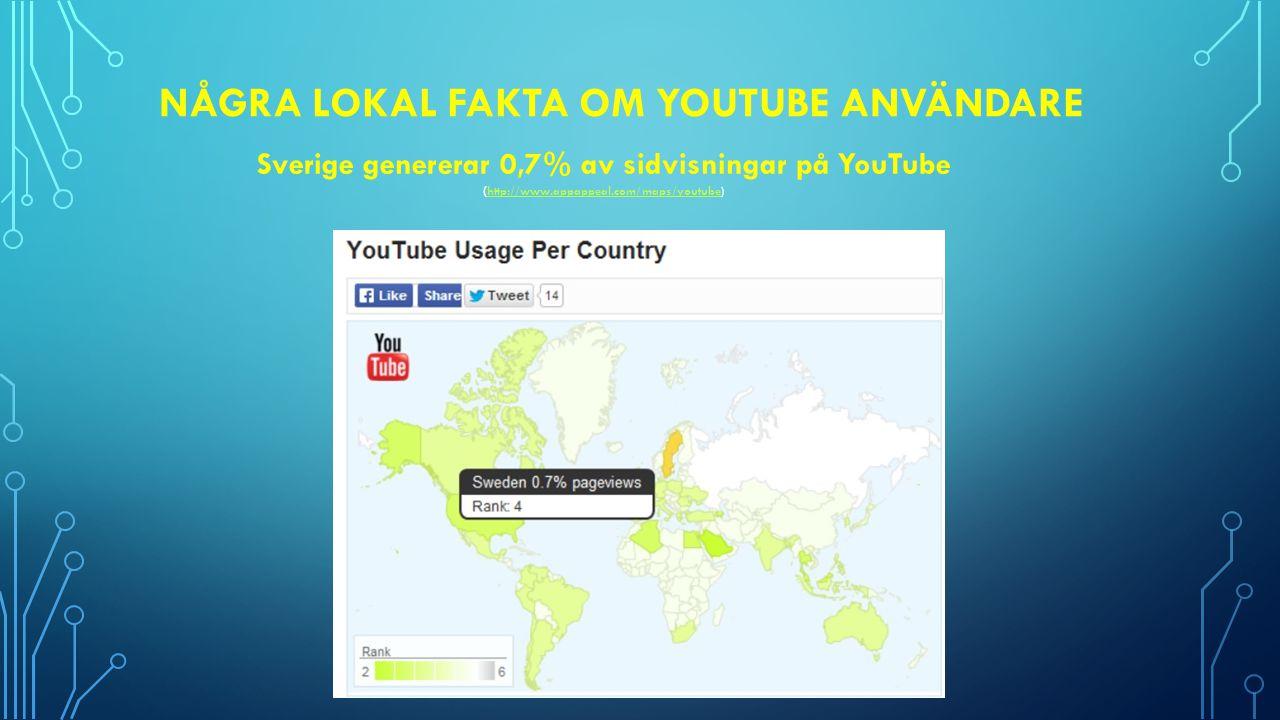Några Lokal fakta om Youtube användare