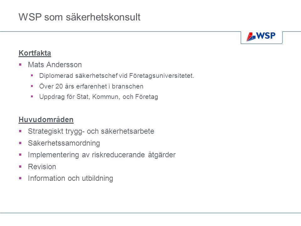 WSP som säkerhetskonsult