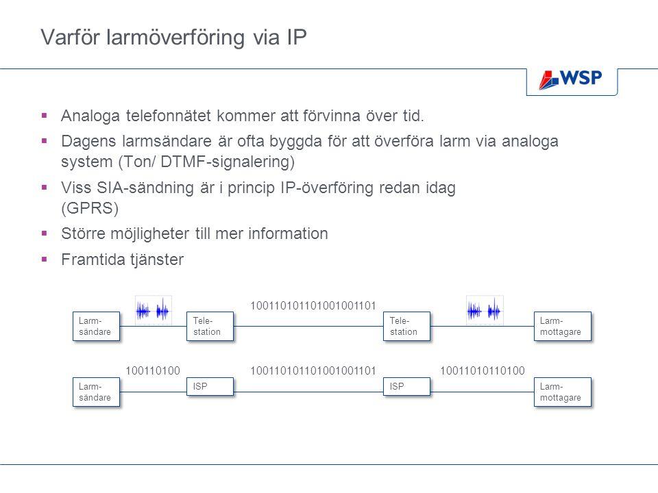 Varför larmöverföring via IP