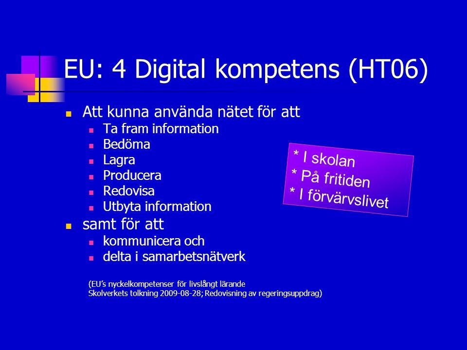 EU: 4 Digital kompetens (HT06)