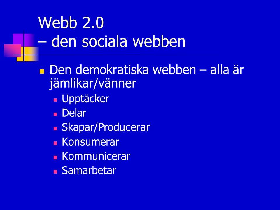 Webb 2.0 – den sociala webben
