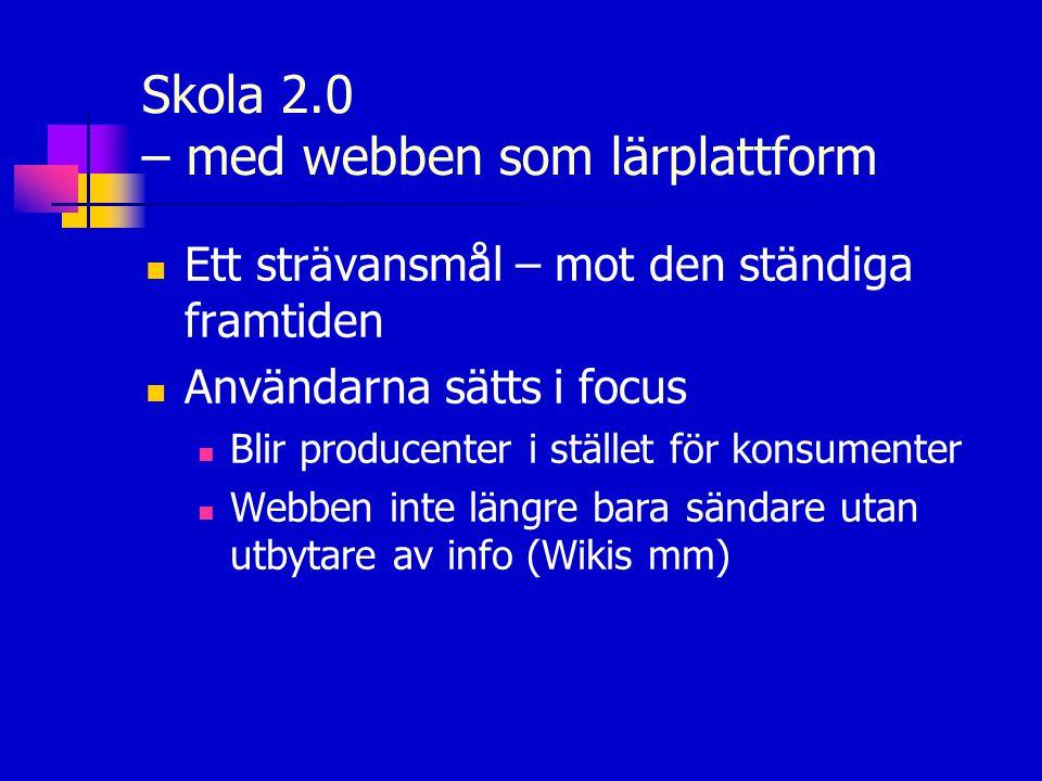 Skola 2.0 – med webben som lärplattform
