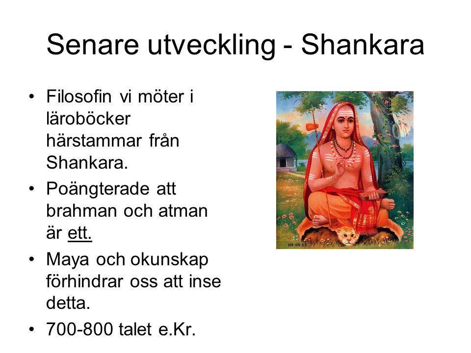 Senare utveckling - Shankara