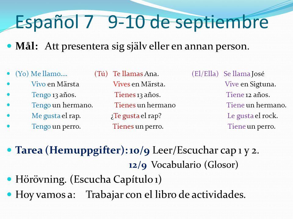 Español 7 9-10 de septiembre