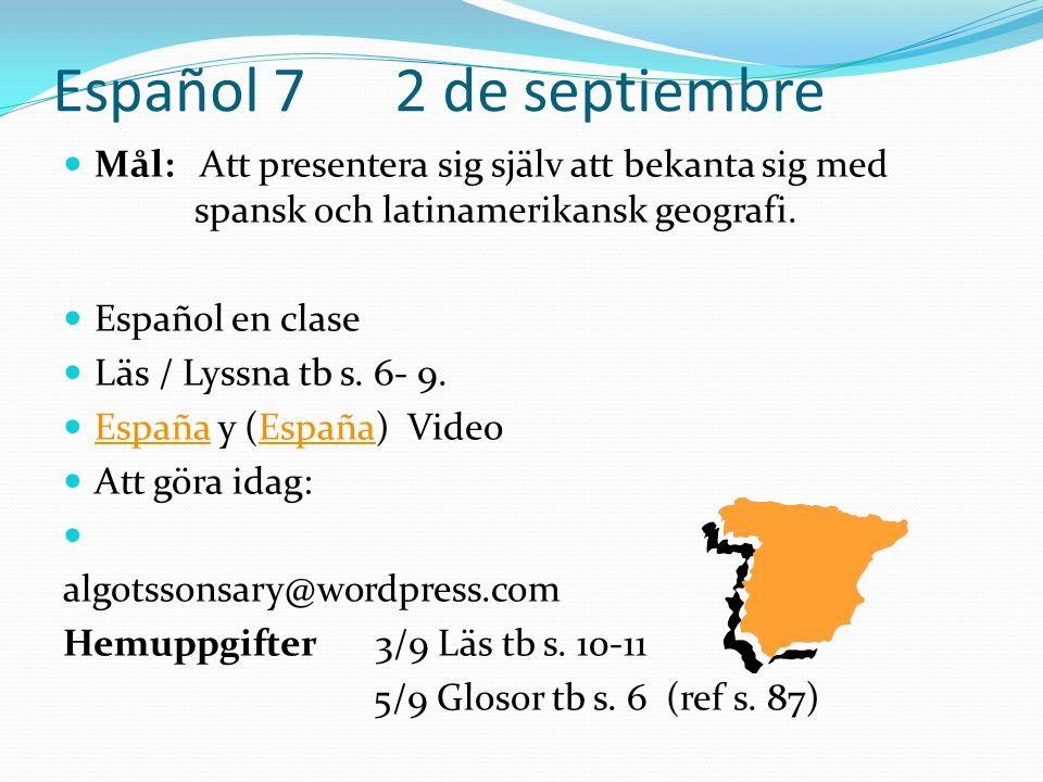 Español 7 2 de septiembre