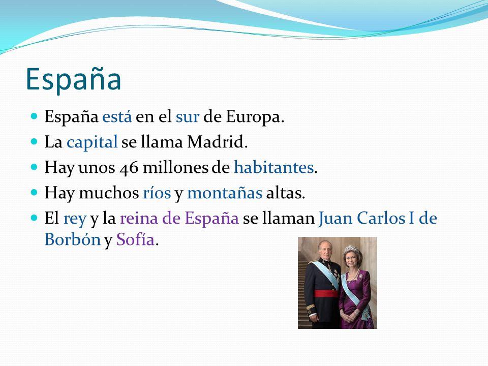 España España está en el sur de Europa. La capital se llama Madrid.