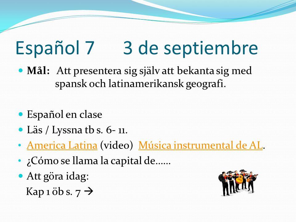 Español 7 3 de septiembre