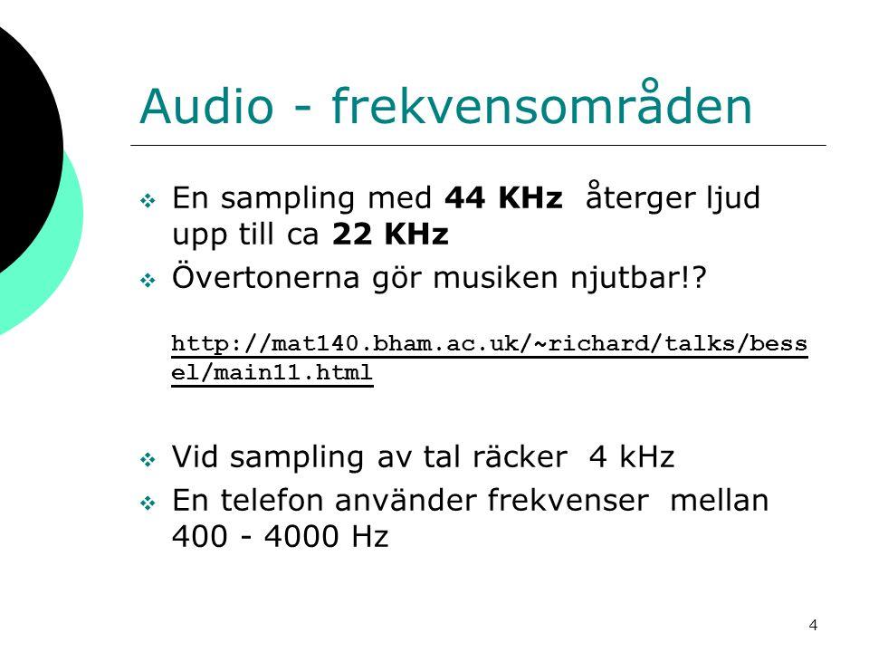 Audio - frekvensområden