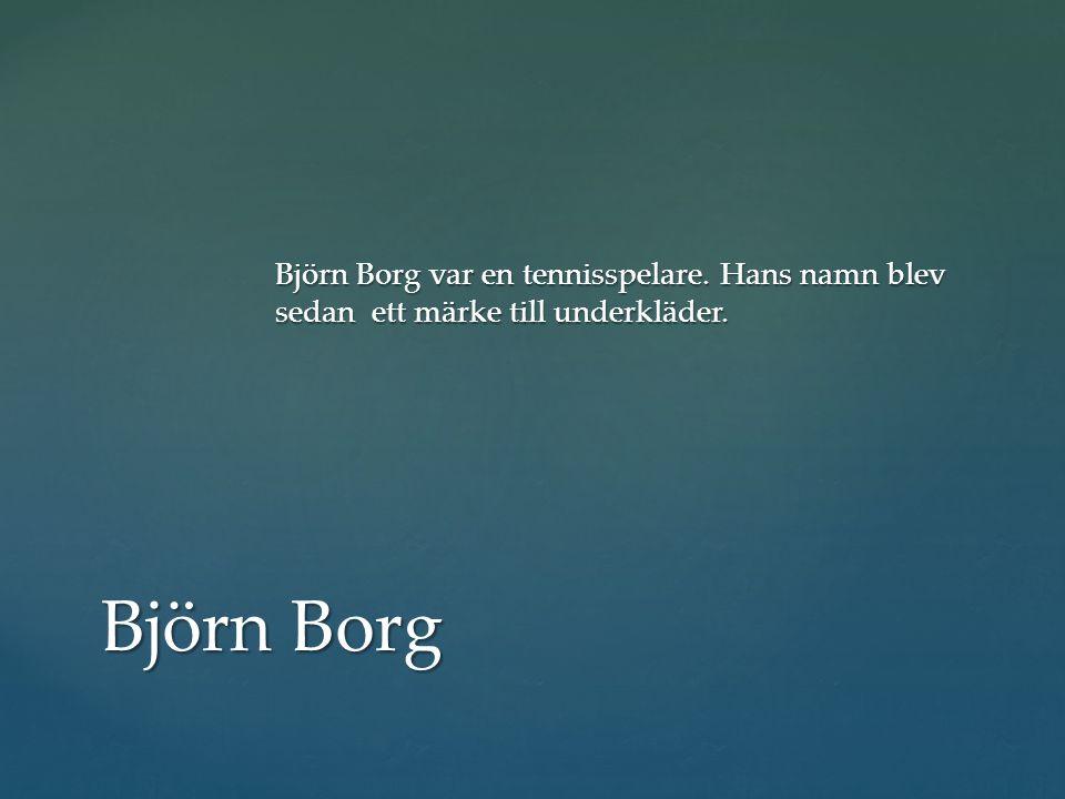 Björn Borg var en tennisspelare