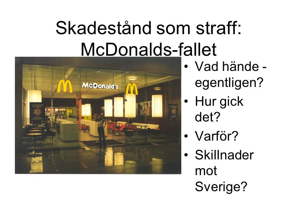 Skadestånd som straff: McDonalds-fallet