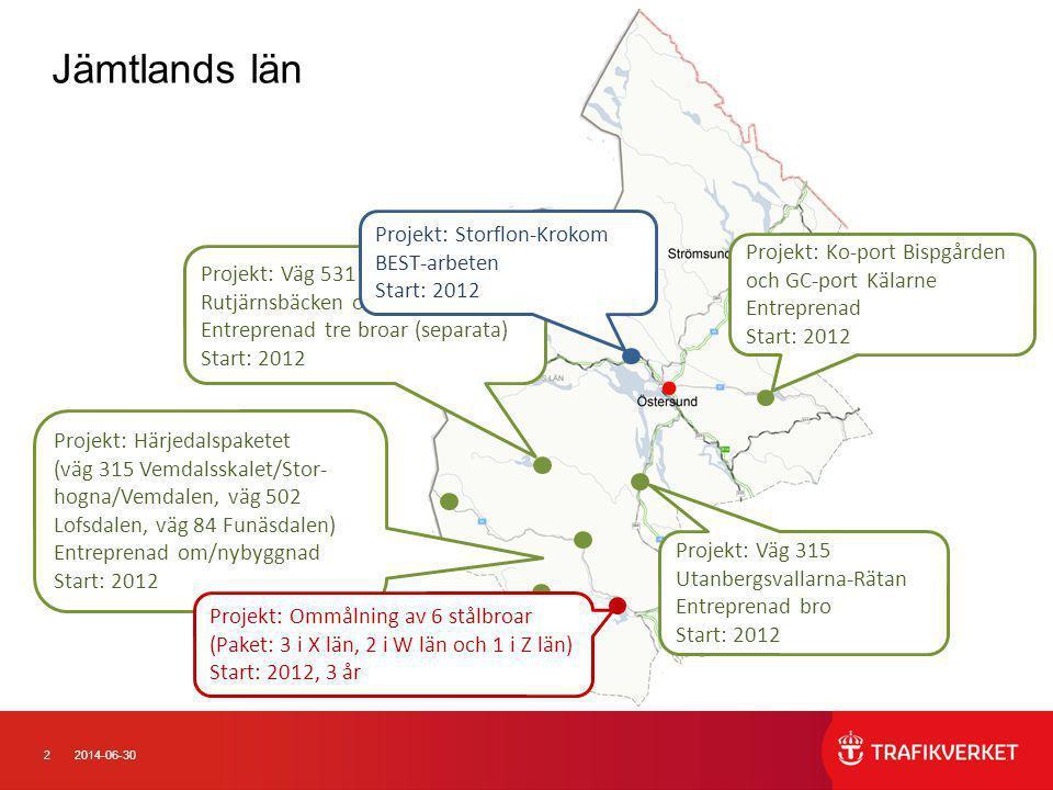 Jämtlands län Projekt: Storflon-Krokom BEST-arbeten