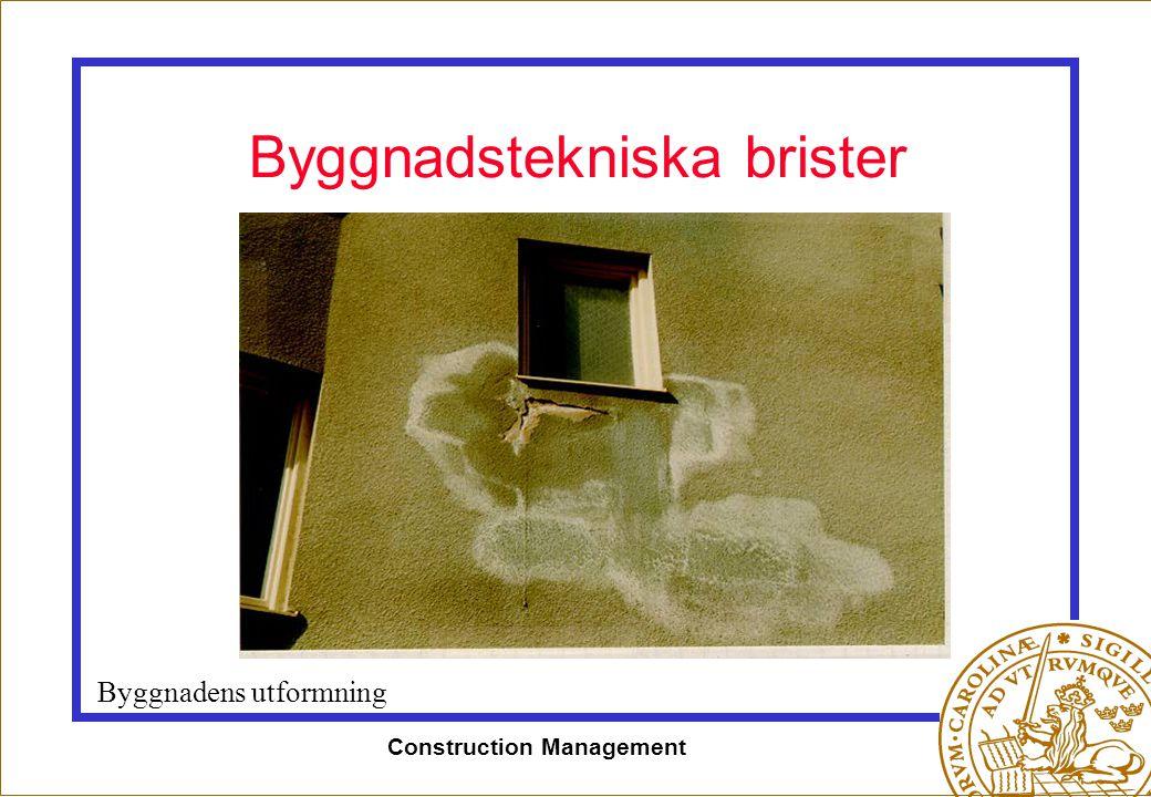 Byggnadstekniska brister