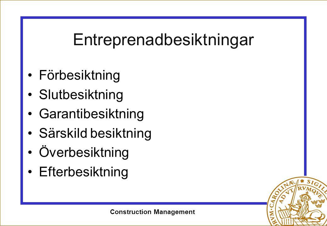 Entreprenadbesiktningar